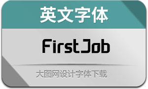 FirstJob(英文字体)