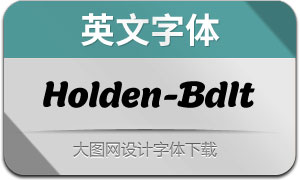 Holden-BoldItalic(英文字体)
