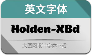 Holden-Extrabold(英文字体)