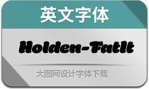 Holden-FatItalic(英文字体)