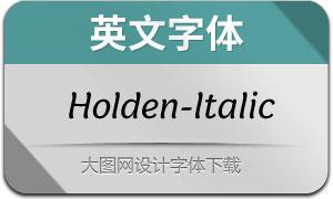 Holden-Italic(英文字体)