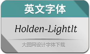 Holden-LightItalic(英文字体)