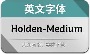 Holden-Medium(英文字体)