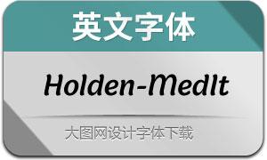 Holden-MediumItalic(英文字体)