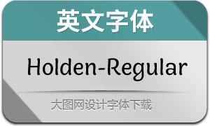Holden-Regular(英文字体)