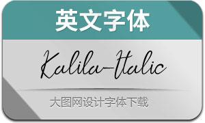 Kalila-Italic(英文字体)