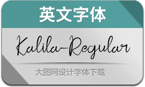 Kalila-Regular(英文字体)