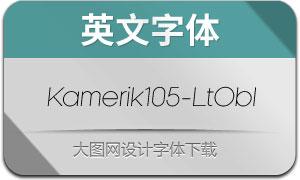 Kamerik105-LightOblique(英文字体)