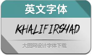 KhalifIrsyad(英文字体)