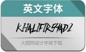 KhalifIrsyad2(英文字体)