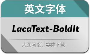LacaText-BoldItalic(英文字体)