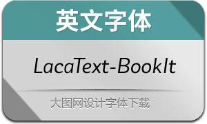 LacaText-BookItalic(英文字体)