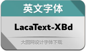 LacaText-ExtraBold(英文字体)