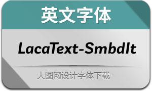 LacaText-SemiBoldItalic(英文字体)