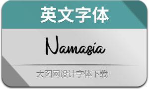 Namasia(英文字体)