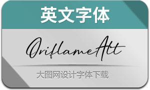OriflameScriptAlt(英文字体)