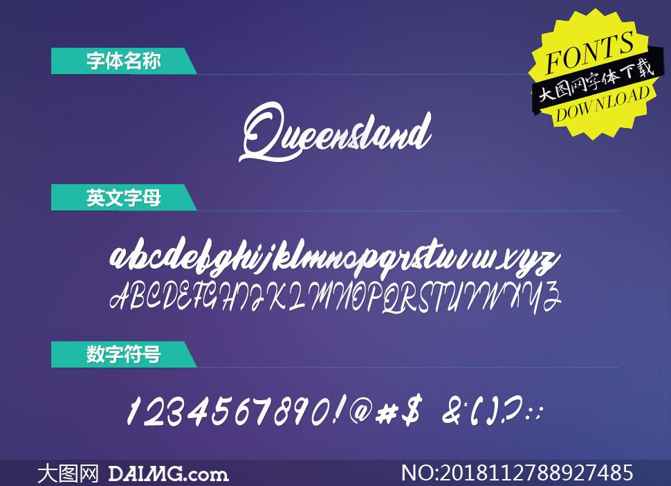 Queensland(英文字体)