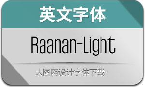 Raanan-Light(英文字体)