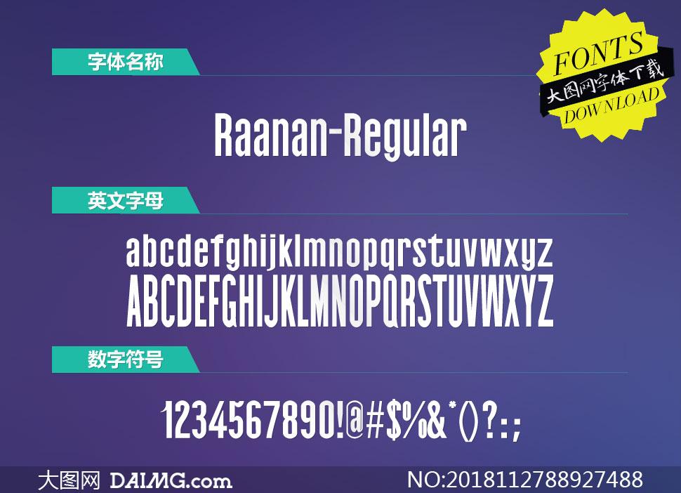 Raanan-Regular(英文字体)