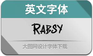 Rabsy系列三款英文字体