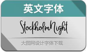 StockholmNight-Regular(英文字体)