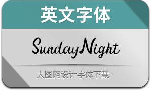 SundayNight(英文字体)