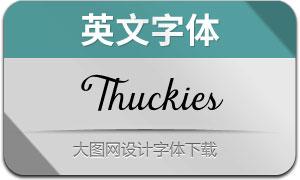 Thuckies(英文字体)