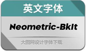Neometric-BlackItalic(英文字体)