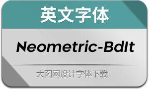 Neometric-BoldItalic(英文字体)