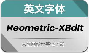 Neometric-ExtraBoldItalic(英文字体
