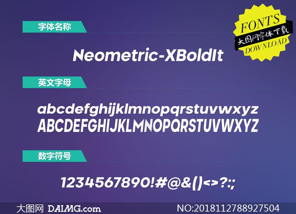 Neometric-ExtraBoldItalic(英文字体)