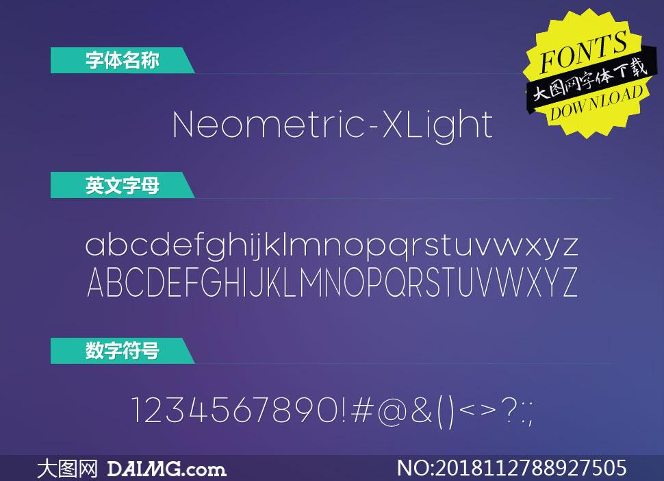 Neometric-ExtraLight(英文字体)