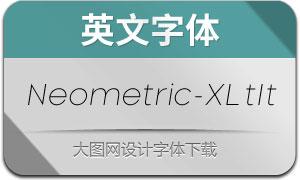 Neometric-ExtraLightItalic(英文字