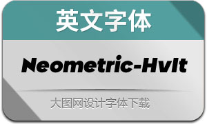 Neometric-HeavyItalic(英文字体)