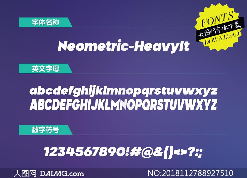 Neometric-HeavyItalic(英文字体)