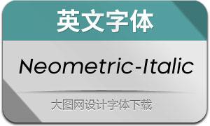 Neometric-Italic(英文字体)