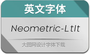 Neometric-LightItalic(英文字体)