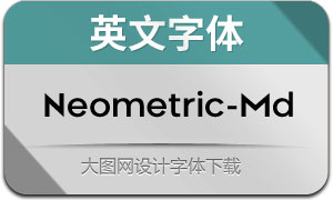 Neometric-Medium(英文字体)