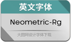 Neometric-Regular(英文字体)