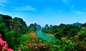 青山绿水美丽峡谷摄影图片