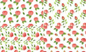 无缝拼接效果的玫瑰花背景高清图片