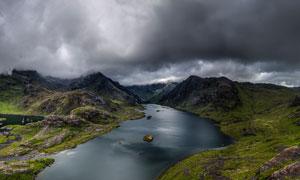 壮观的山川河流高清摄影图片