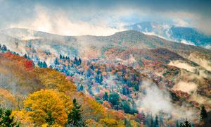 秋季山林美丽风光摄影图片