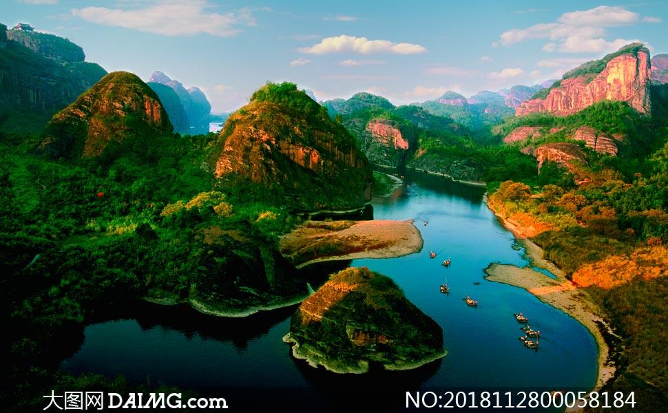 美丽的青山绿水高清摄影图片