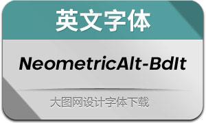 NeometricAlt-BoldItalic(英文字体)
