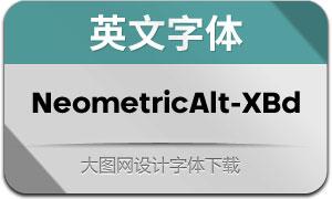 NeometricAlt-ExtraBold(英文字体)