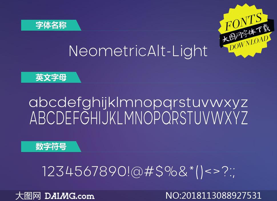 NeometricAlt-Light(英文字体)