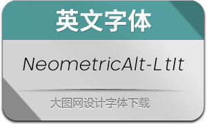 NeometricAlt-LightItalic(英文字体)