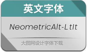 NeometricAlt-LightItalic(英文字体)