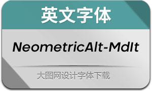 NeometricAlt-MediumIt(英文字体)